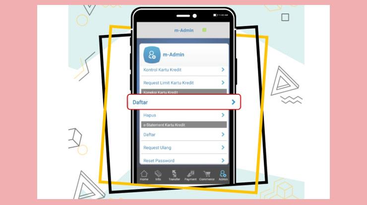 3 Kemudian Pilih Koneksi Kartu Kredit Dan Klik Daftar