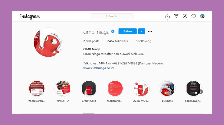 Instagram Cimb Niaga