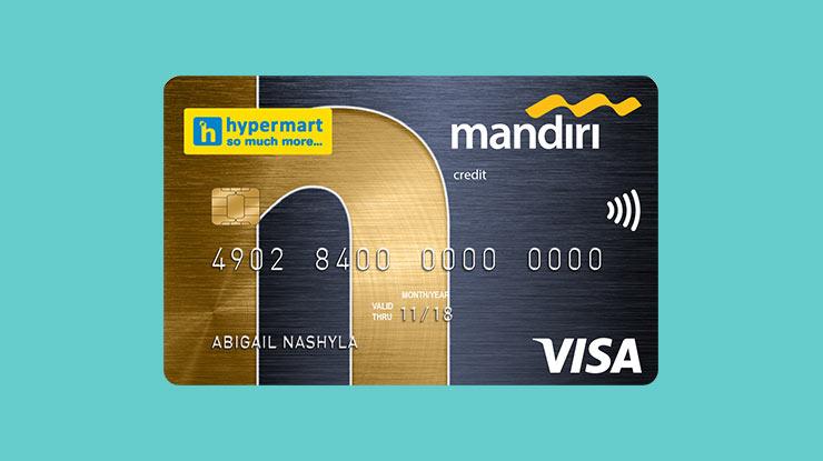 Jenis Kartu Kredit Mandiri Hypermart