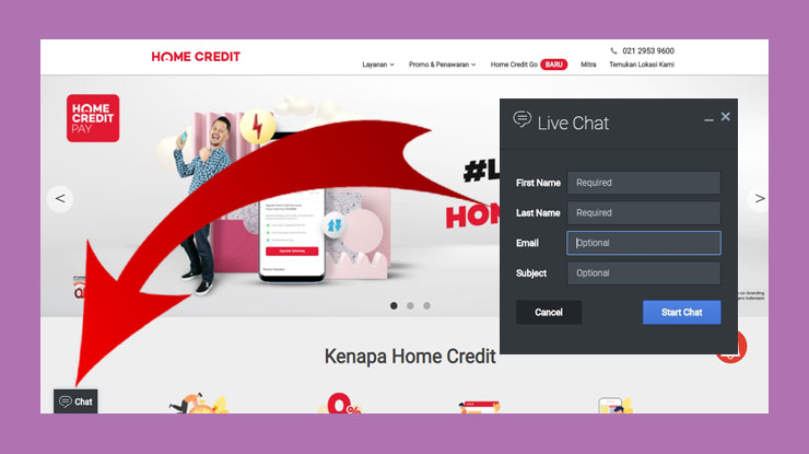 Live Chat Home Credit