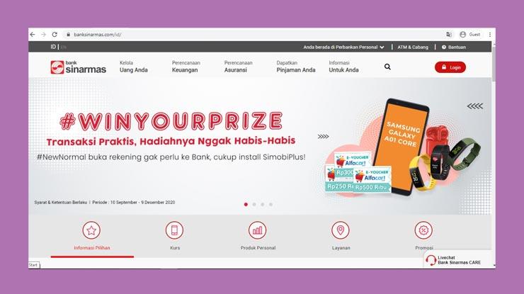 Livechat website Sinarmas