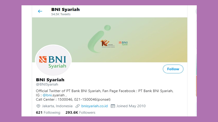 Twitter Call Center Syariah