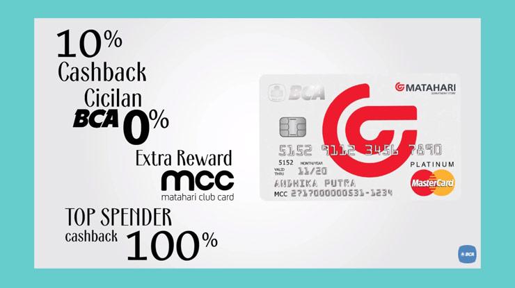 Detail Kartu Kredit BCA Mastercard Matahari