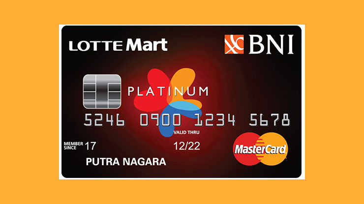 Lotte Mart Hypermart Card Bank Negara Indonesia