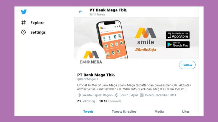 Medsos Twitter Mega