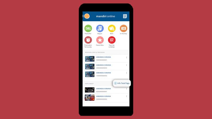 2.Lalu pada tampilan layar utama klik Info Total Pagu.