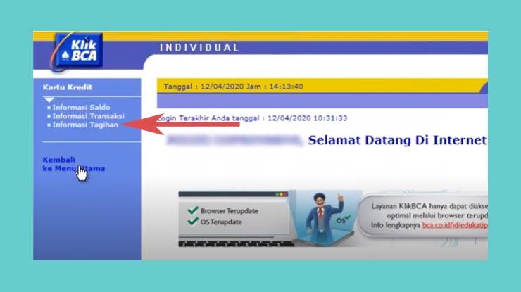 4 Lanjutkan Dengan Memilih Informasi Tagihan