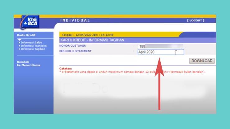 5 Kemudian Pilih Nomor Customer Nomor Kartu Yang Ingin Dicek Dan Periode Pemakaian Bulan Tahun
