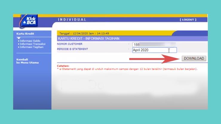 6 Lalu Tekan Tombol Download Sehingga File Pdf Tagihan Akan Terunduh