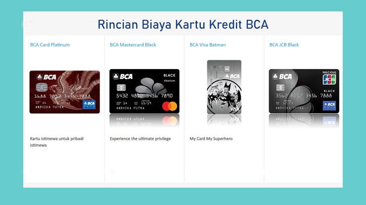 Rincian Biaya Pemakaian Kartu Kredit Bca