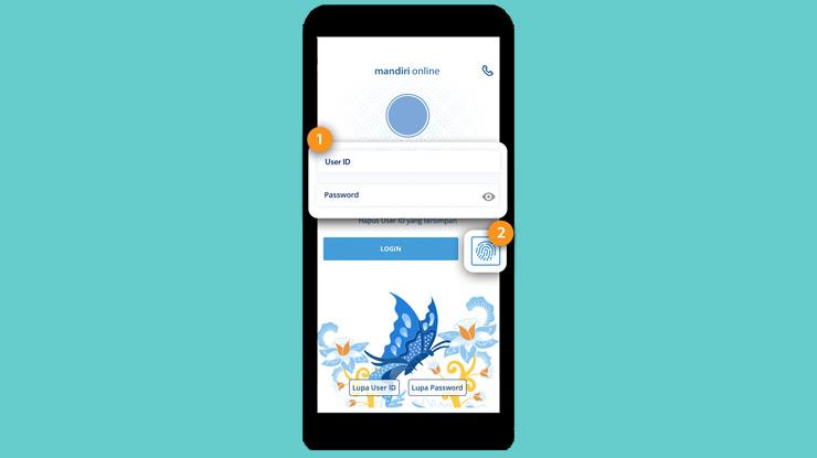 1 Pertama Bukalah Aplikasi Mandiri Online Lalu Lakukan Proses Login