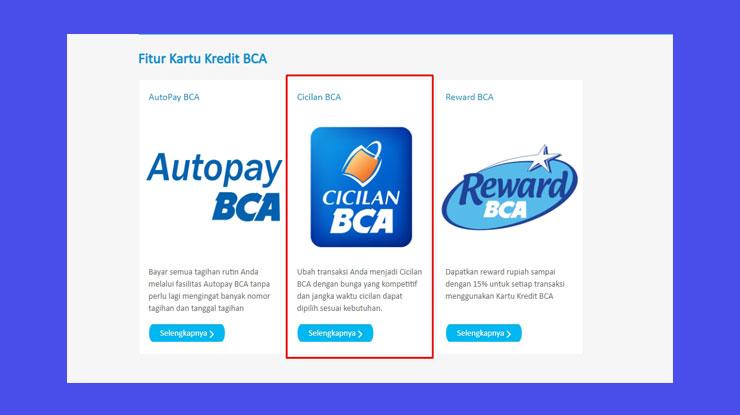 Cicilan Kartu Kredit Bca