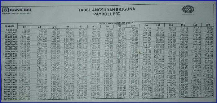 Tabel Angsuran Pinjaman Bri 100 Juta 2021 6
