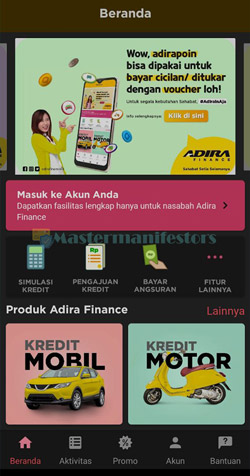 1 Akses Aplikasi Adiraku