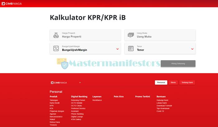 1 Akses Website Kalkulator Kpr Cimb Niaga