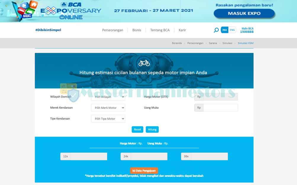 1 Akses Website Simulasi Resmi Bca