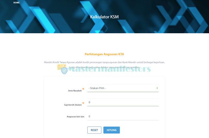 1 Kunjungi Situs Kalkulator Ksm