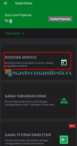 3 Pilih Menu Booking Service