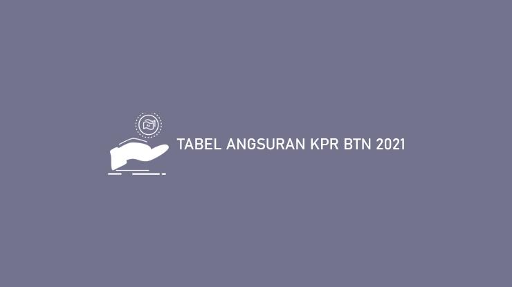 Tabel Angsuran Kpr Btn 2021