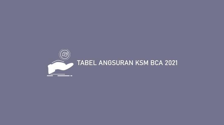 Tabel Angsuran KSM BCA 2021