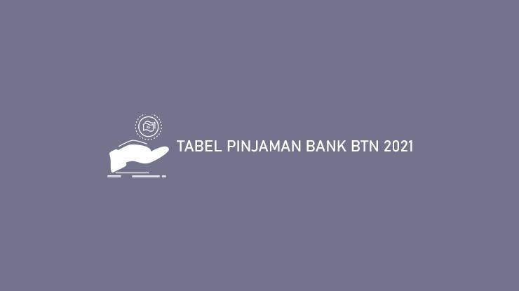Tabel Pinjaman Bank Btn 2021