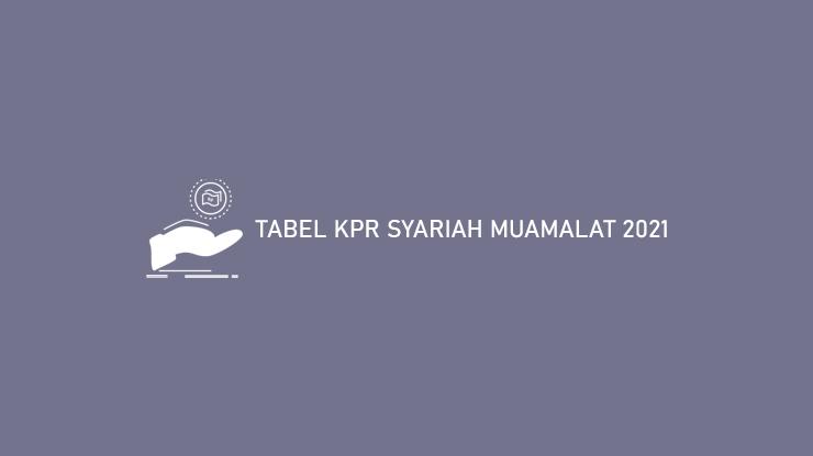 Tabel Kpr Syariah Muamalat 2021