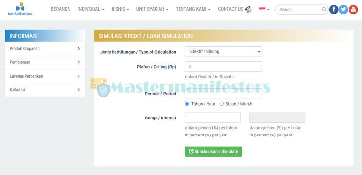 1 Kunjungi Website Resmi Bank Kaltimtara