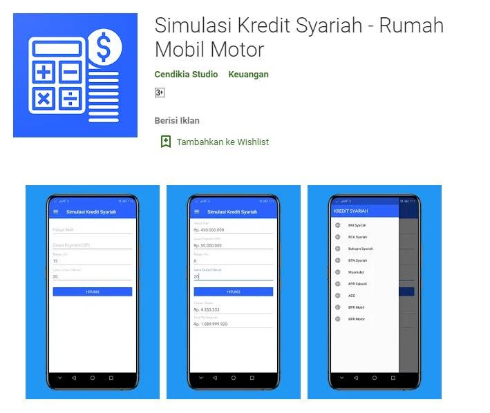Kalkulator Simulasi Kur Syariah