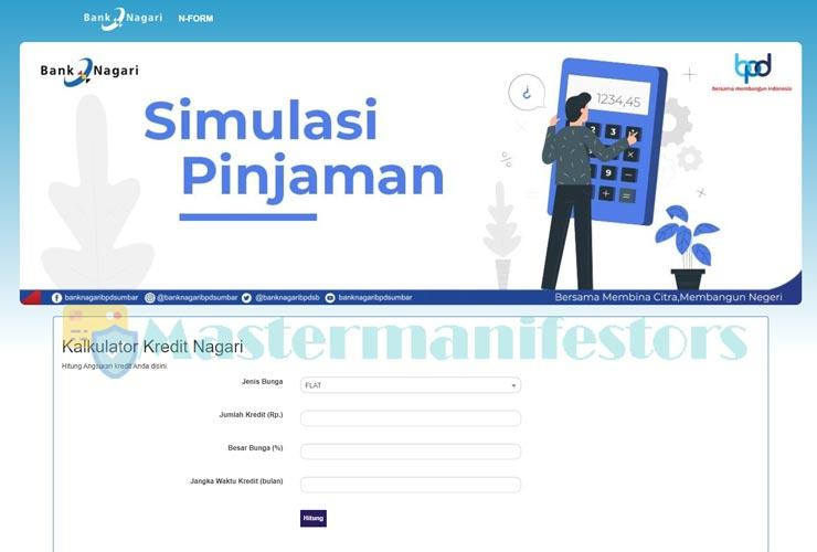 1 Kunjungi Website Resmi Simulasi Kur Bank Nagari V2