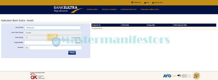 1 Kunjungi Website Simulasi Angsuran Kur Bank Sultra