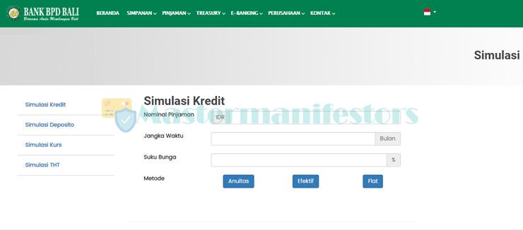 1 Kunjungi Website Simulasi Angsuran Resmi Bank Bpd Bali