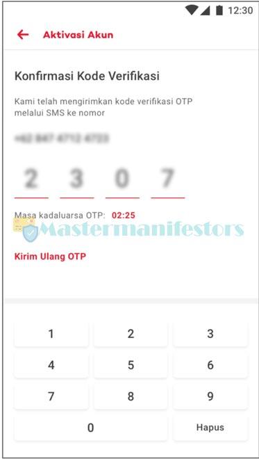 4 Masukkan Kode Verifikasi Sms