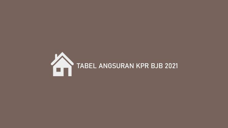 Tabel Angsuran Kpr Bjb 2021