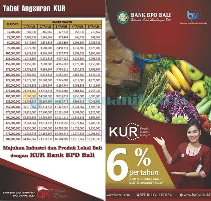 Tabel Angsuran Kur Bank Bpd Bali 3