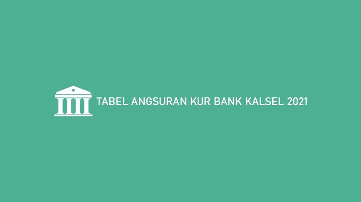Tabel Angsuran Kur Bank Kalsel 2021