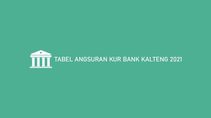 Tabel Angsuran Kur Bank Kalteng 2021