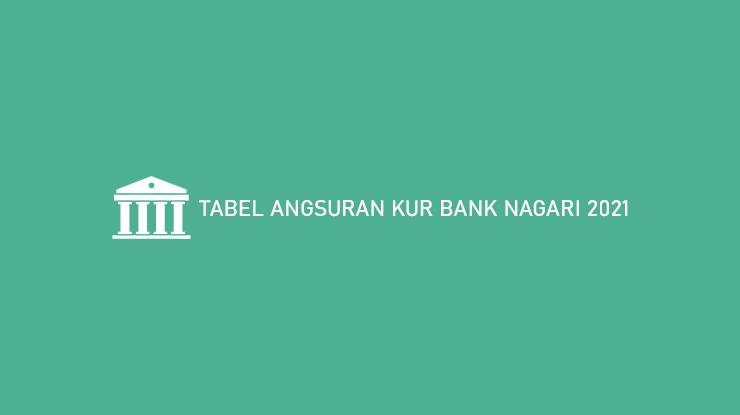 Tabel Angsuran Kur Bank Nagari 2021