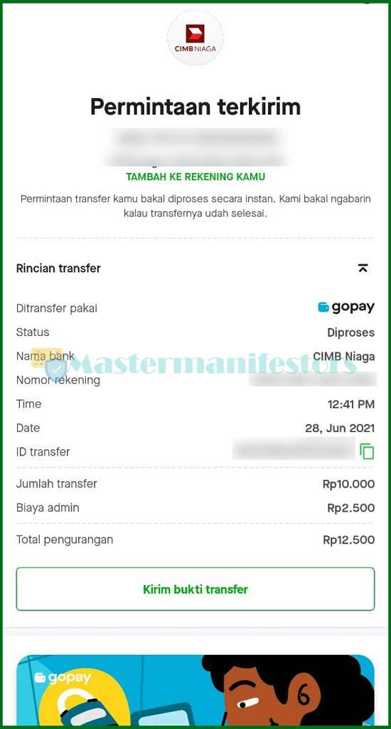 9 Bukti Transfer GoPay