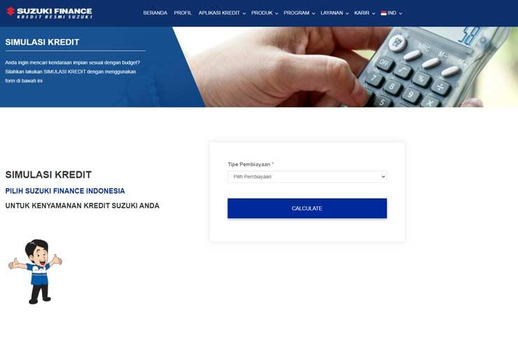 Kunjungi Website Simulasi Resmi Suzuki Finance
