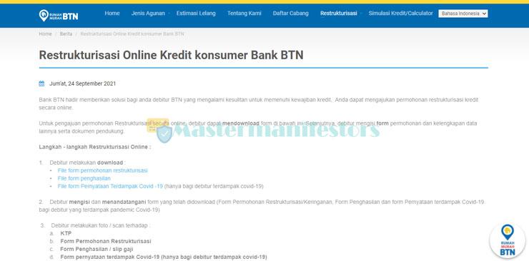 1. Kunjungi Website Resmi BTN