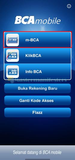 Buka M Banking BCA