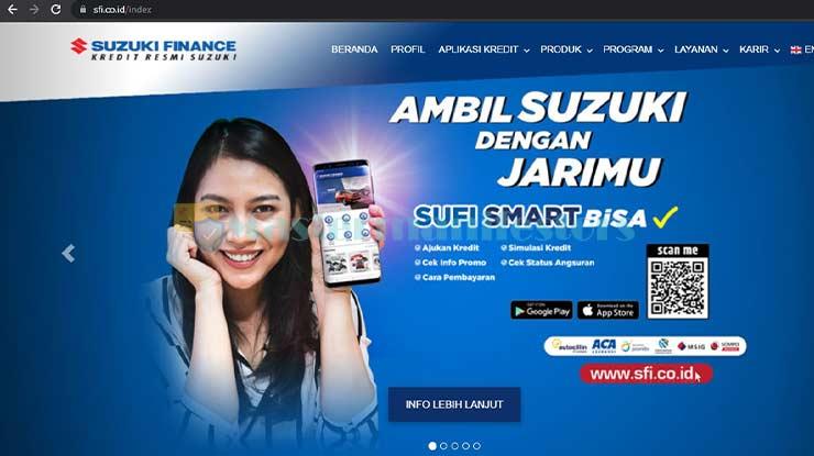 Buka Situs Resmi Suzuki Finance