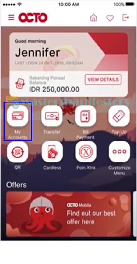 Buka aplikasi OCTO Mobile.