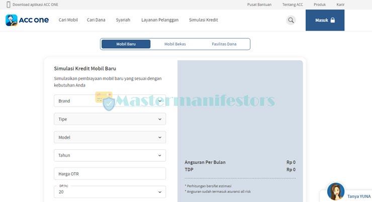 Kunjungi website resmi ACC Finance melalui link di bawah.