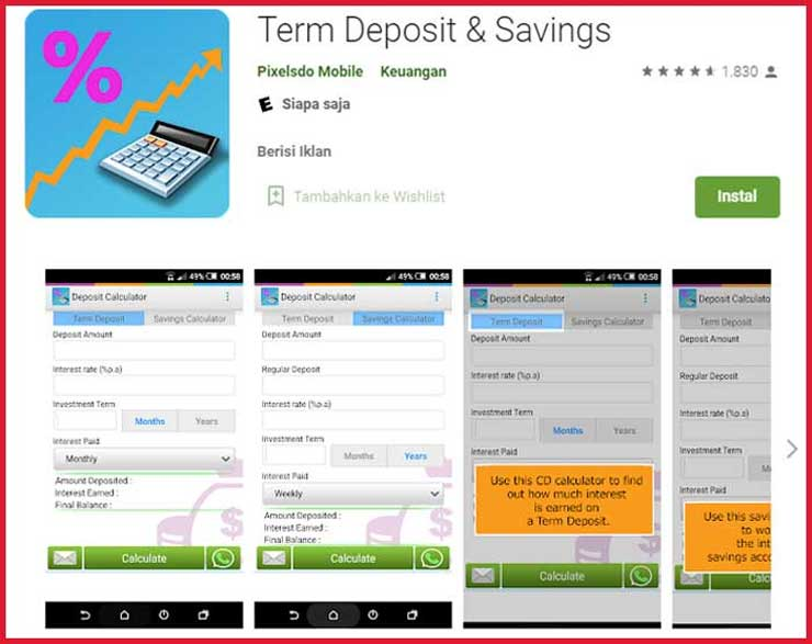 Aplikasi Simulasi Bunga Deposito BPR BKK
