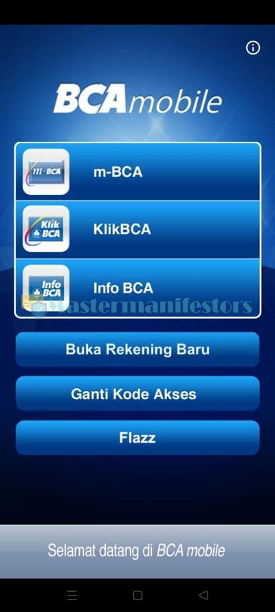 Buka Aplikasi M Banking BCA