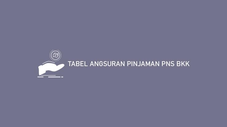 Tabel Angsuran Pinjaman PNS BKK